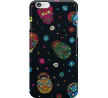 Bright mexican floral skull iPhone Case/Skin