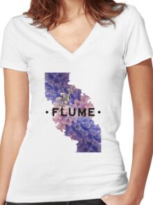 flume skin - white Women's Fitted V-Neck T-Shirt