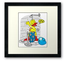 "Rick the chick ""SINGIN' IN THE SHOWER"" Framed Print"