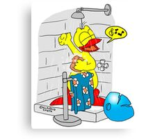 """Rick the chick """"SINGIN' IN THE SHOWER"""" Canvas Print"""