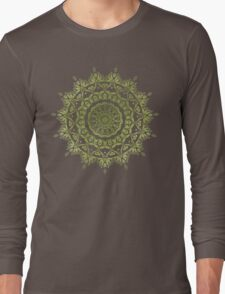 Olive Mandala Long Sleeve T-Shirt