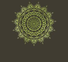 Olive Mandala Womens Fitted T-Shirt