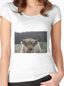 Highland Cattle Women's Fitted Scoop T-Shirt