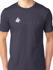 Small White Totoro Dropping Acorns - Two Colour Unisex T-Shirt