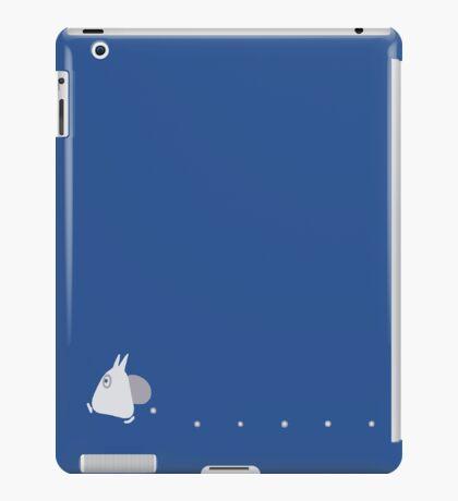 Small White Totoro Dropping Acorns - Two Colour iPad Case/Skin