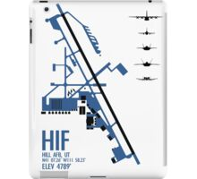Hill Air Force Base Airfield Diagram (Blue) iPad Case/Skin
