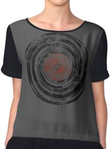 Old Vinyl Records Urban Grunge Chiffon Top