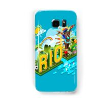 Brasil Rio Summer Infographic Isometric 3D Samsung Galaxy Case/Skin
