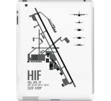 Hill Air Force Base Airfield Diagram (Gray) iPad Case/Skin