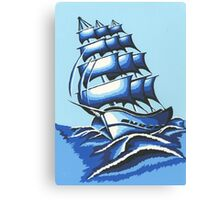 Blue Ship Canvas Print