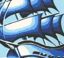 Blue Ship Sticker