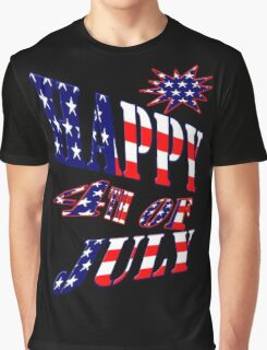 Happy 4th of July-  Art + Products Design  Graphic T-Shirt