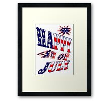 Happy 4th of July-  Art + Products Design  Framed Print
