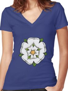 Reyt Good Yorkshire Rose. Women's Fitted V-Neck T-Shirt