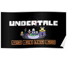 Undertale Charecters Group Poster