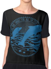 Message from Dolphins Chiffon Top