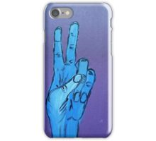 Hand Signs - Series One - Peace iPhone Case/Skin