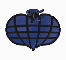 HeartGrenade: Blue Kids Tee