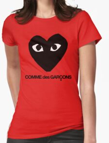 CDG Black Womens Fitted T-Shirt