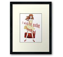 Asuka-Evangelion Framed Print