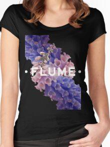 flume skin - black Women's Fitted Scoop T-Shirt