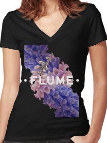 flume skin - black Women's Fitted V-Neck T-Shirt
