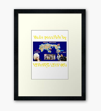 Viewers Like You: Championship Edition Framed Print