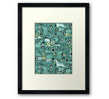 Communication Dinosaurs.  Framed Print