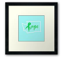 Washington Hope Framed Print