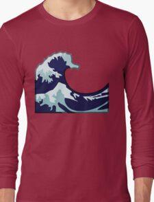 Water Wave Emoji Long Sleeve T-Shirt