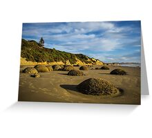 Moeraki Boulders, New Zealand Greeting Card