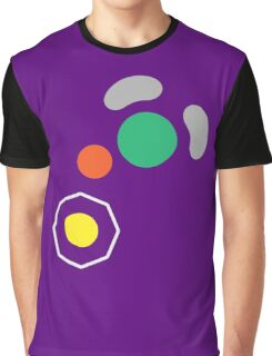 Gamecube Controller Button Symbol Graphic T-Shirt