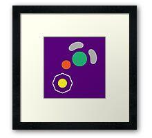 Gamecube Controller Button Symbol Framed Print