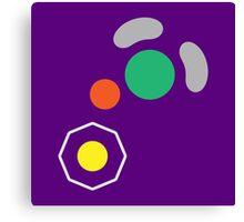 Gamecube Controller Button Symbol Canvas Print