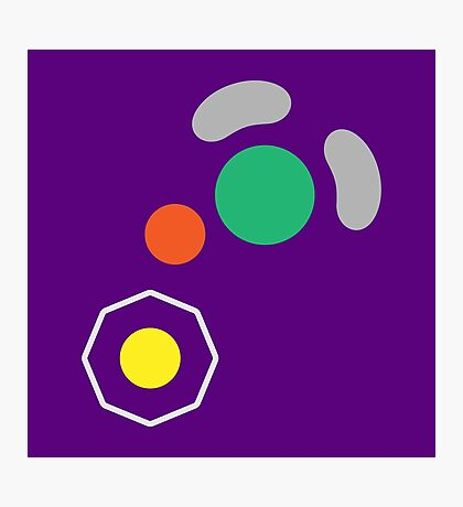 Gamecube Controller Button Symbol Photographic Print