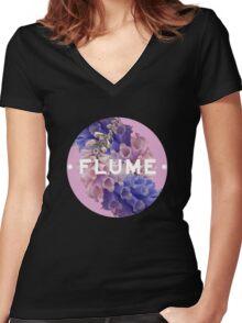 flume skin - full Women's Fitted V-Neck T-Shirt