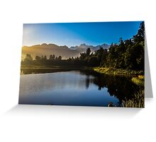 Early morning at Lake Matheson, New Zealand Greeting Card