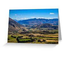 Queenstown countryside, New Zealand Greeting Card