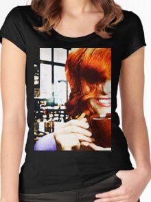 Coffee? Women's Fitted Scoop T-Shirt