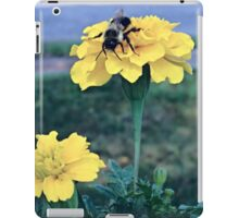 Bee on Marigolds iPad Case/Skin