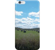 Kansas Field and Blue Sky with Clouds iPhone Case/Skin