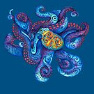 Swirly Octopus by _ VectorInk