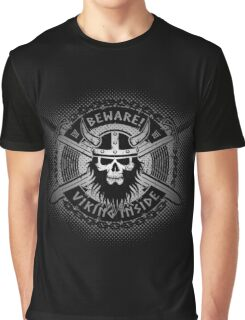 Viking skull and crossed swords Graphic T-Shirt
