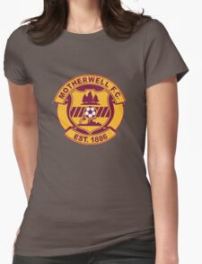 Motherwell FC Badge - Scottish Premier League Womens Fitted T-Shirt
