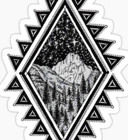 Yosemite at Night Sticker