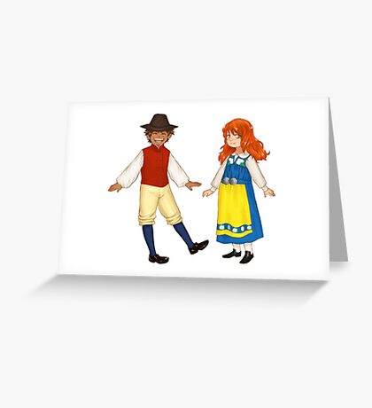 Luffy Nami Greeting Card