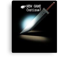 New Game / Continue? Canvas Print