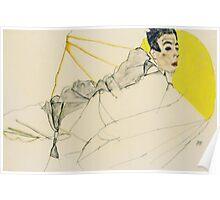 Egon Schiele - Reclining Boy. Schiele, Reclining Boy Poster
