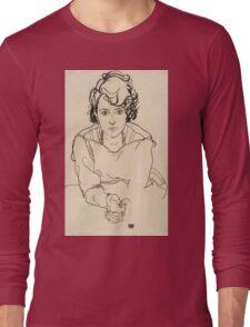 Egon Schiele - Seated Woman. Schiele - woman portrait. Long Sleeve T-Shirt