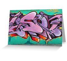 Graffiti Art in Cotacachi Greeting Card